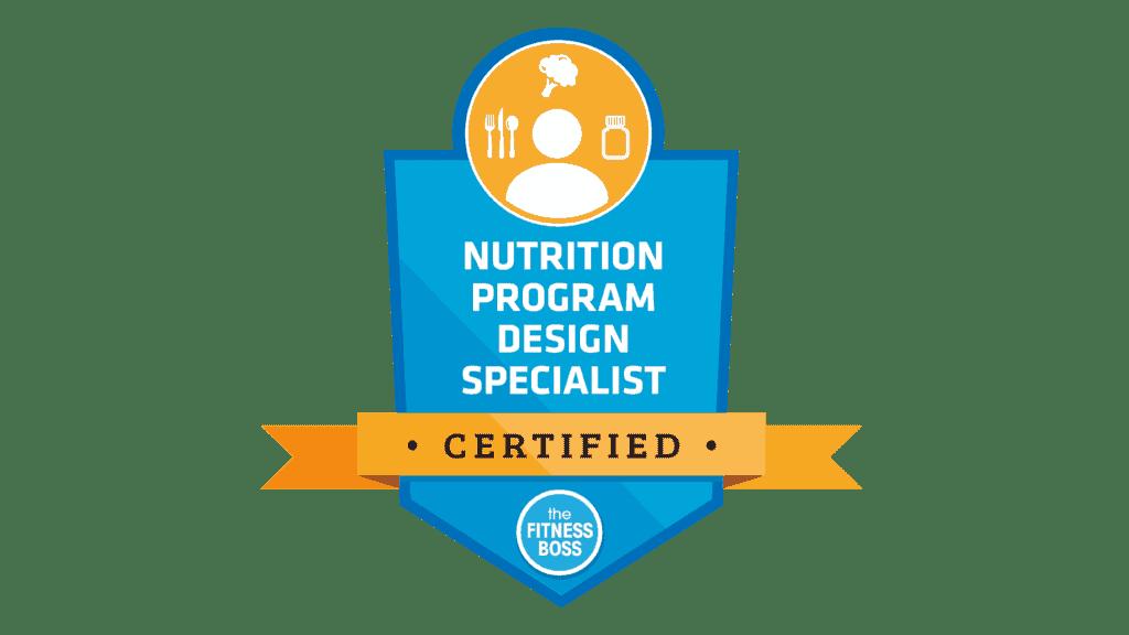 Nutrition Program Design Specialist Certified Coach